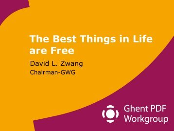 The Best Things in Life are Free - Ghent Workgroup