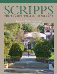 Financial RepoRt 2011-2012 - Scripps College