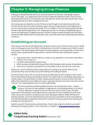 Chapter 5: Managing Group Finances - Girl Scouts of Greater Los ...