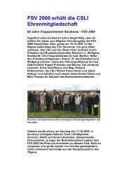 Ehrenmitgliedschaft FSV 2000 - Lazarus Union
