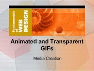 2. Animated and Transparent GIFs