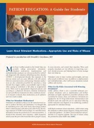 PATIENT EDUCATION - American College Health Association