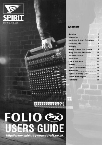 Download user guide - Soundcraft