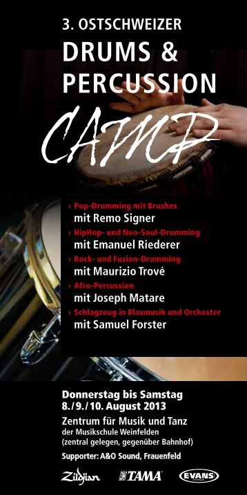 DRUMS & PERCUSSION - +++ remo signer