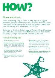 Festive fundraising ideas - Macmillan Cancer