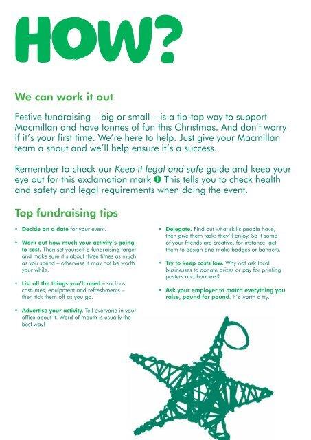 Christmas Fundraising Ideas.Festive Fundraising Ideas Macmillan Cancer
