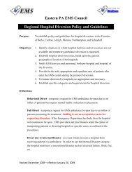 Regional Diversion policy Jan 09.pdf - Eastern EMS Council