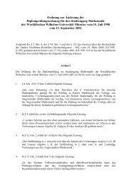 Ordnung zur Änderung der Diplomprüfungsordnung - ZSB ...
