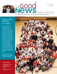 May/June 2012 - St. Matthew's Parish