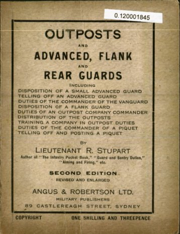Outposts and advance, flank and rear guards - Australian Army