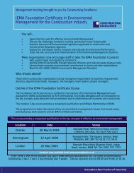 Download booking form - Constructing Excellence