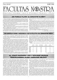 Září 2008 / Číslo 68 - 69 - Lékařská fakulta v Plzni