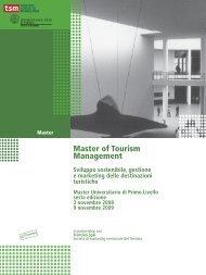 Master of Tourism Management - TSM