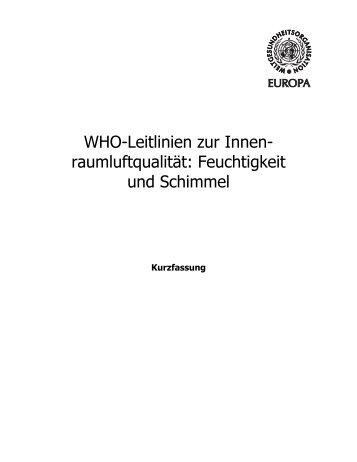 Feuchtigkeit und Schimmel - WHO/Europe