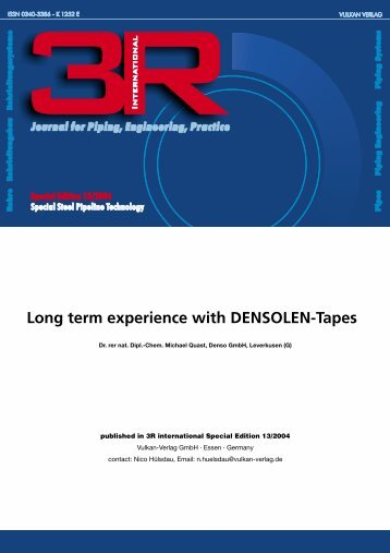 Long term experience with DENSOLEN-Tapes