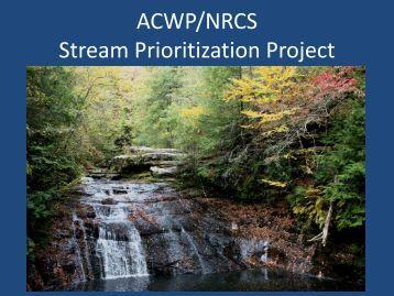 NWQI Stream Prioritization Project PPT Presentation
