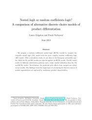 A comparison of alternative discrete choice models of product