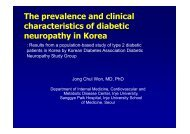 The prevalence and clinical characteristics of diabetic neuropathy in ...