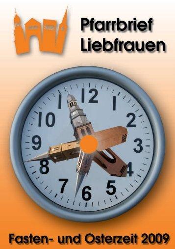 Fastenzeit 2009 - Katholische Pfarrgemeinde Liebfrauen