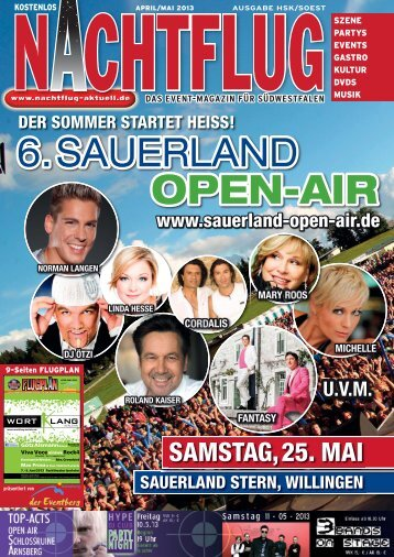 6. SAUERLAND OPEN-AIR - Nachtflug-Magazin