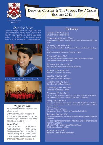 DULWICH COLLEGE & THE VIENNA BOYS' CHOIR SUMMER 2013 ...