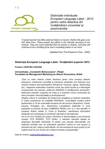 Distinctii individuale - LLP