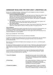 Förslag på ändringar på ändringar - Jönköpings kommun