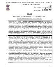 notice combined graduate level examination, 2013 - ssc - STAFF ...