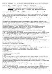 Verslag gemeenteraad 2011-11-10 - Gemeente glabbeek