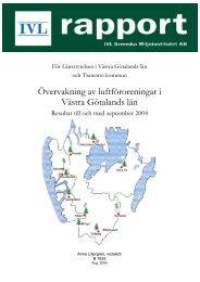 För Länsstyrelsen i Västra Götalands län samt Tranemo kommun ...