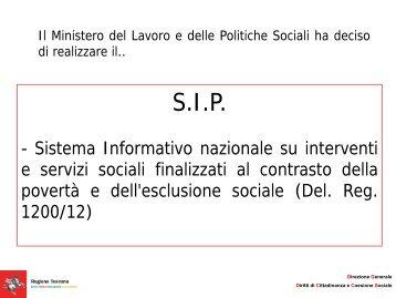 SIP - Il sistema informativo - Centro regionale di documentazione ...
