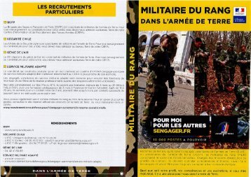 militaire du rang - Bailly-Romainvilliers