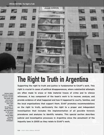 The Right to Truth in Argentina - EAAF