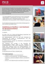 Ausbildung zur Kauffrau / zum Kaufmann für Bürokommunikation