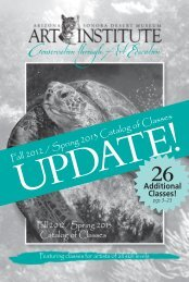 Fall 2012 / Spring 2013 Catalog of Classes - Arizona-Sonora Desert ...