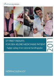 Høringsudkast styrket indsats for den ældre medicinske patient