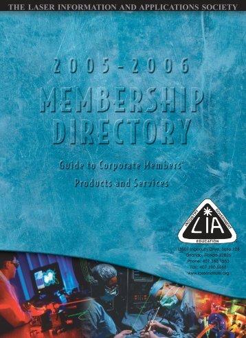 2005 Officers - Laser Institute of America