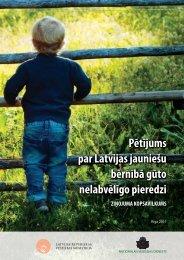 Pētījums par Latvijas jauniešu bērnībā gūto nelabvēlīgo pieredzi