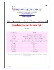 Bordetella Pertussis IgG ELISA kit - Diagnostic Automation : Cortez ...