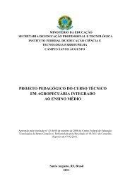Projeto Pedagógico do Curso Técnico em Agropecuária Integrado ...