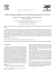 Effect of tungsten additions on the mechanical properties of Ti-6Al-4V