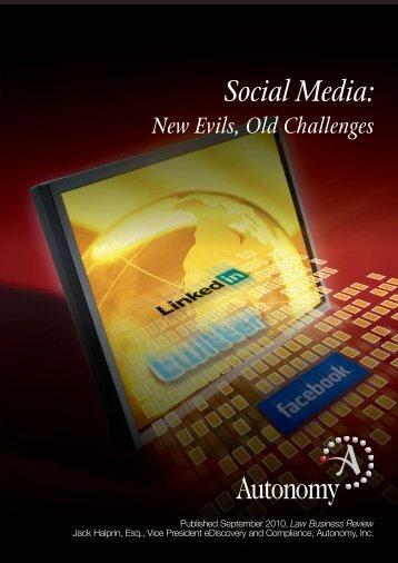 Social Media: - Digital Government Institute