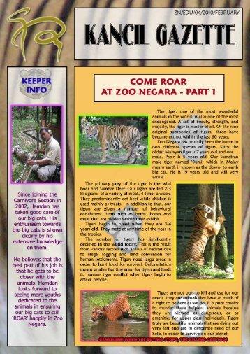 February 2010 - Zoo Negara