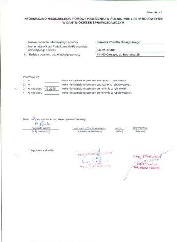 pomoc de minimis - wrzesień 2010 r.
