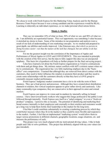 Exhibit V.pdf - Applicant seeking PhD in Marketing :: Monte Shaffer