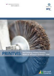 PRINTVIS: Your Printing Industry Solution Based on Microsoft ... - Ipex