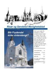 Nummer 2, påsken 2009 - Risør kirkelige fellesråd - Den norske kirke