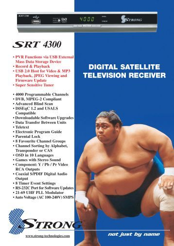 DIGITAL SATELLITE TELEVISION RECEIVER - Supreme Antennas