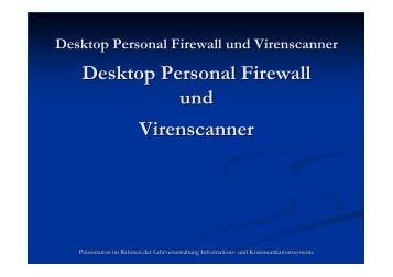 Desktop Personal Firewall und Virenscanner - mielkeweb.de