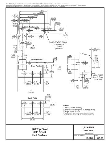 door closer installation. 280 installation instructions - door closer service company